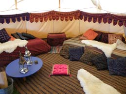 24ft Tipi interior